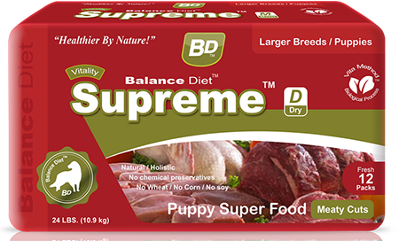 Balance Diet Supreme Dry puppy super food meaty cuts
