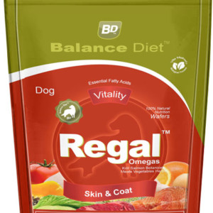 Balance diet Premium Dog food for the best dog health of Dogs Regal omegas suppliment for skin and coat care made by veggies and fruits