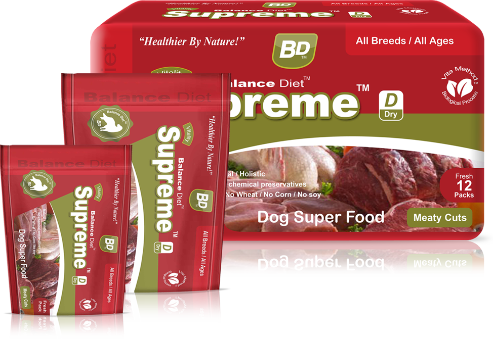 Balance Diet Supremeall breeds/all ages Dog superfood meaty cuts
