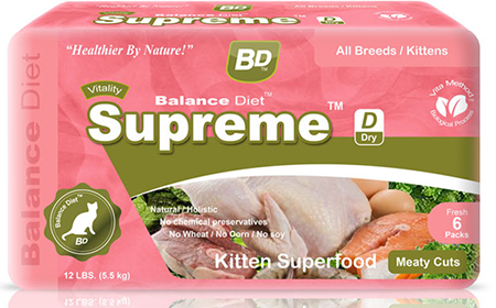 Balance Diet premium cat food Supreme kitten superfood complete nutrition for all life stages its tasty food for your kitten