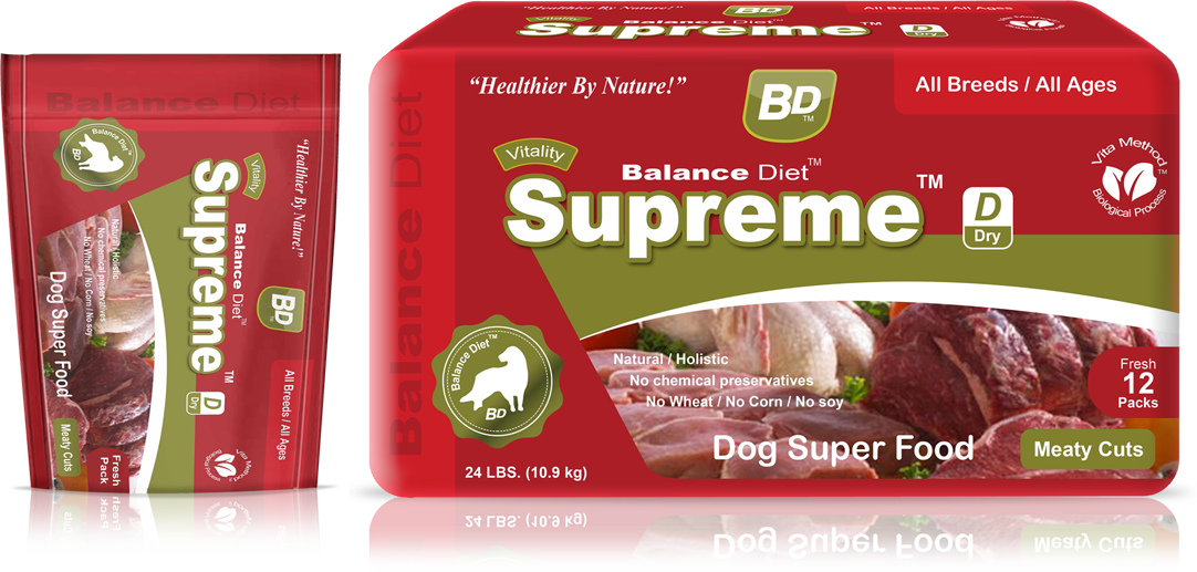 Balance Diet Supreme Dog superfood meaty cuts