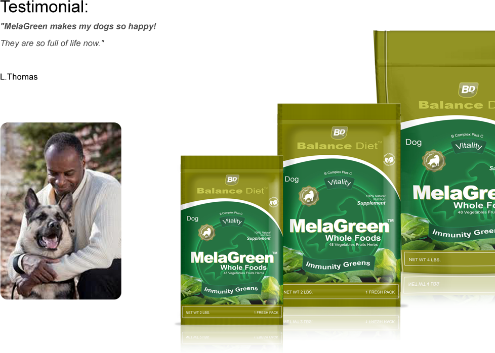 Balance Diet Premium Dog food Mela Green immunity wafers immune support and dental/oral health containing antioxidants