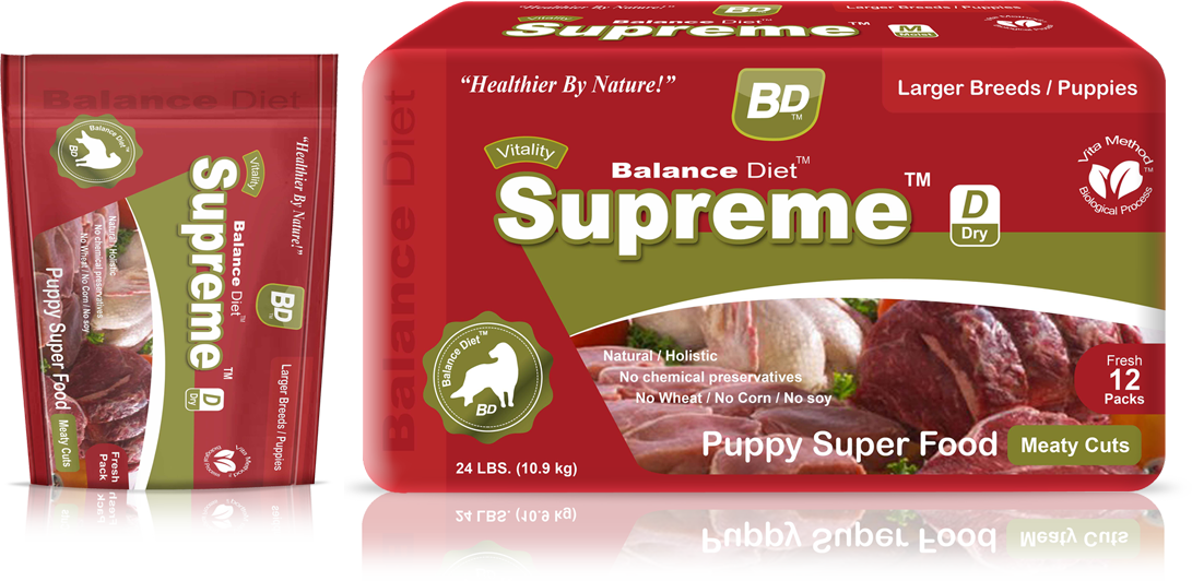 Balance Diet Supreme puppy superfood meaty cuts