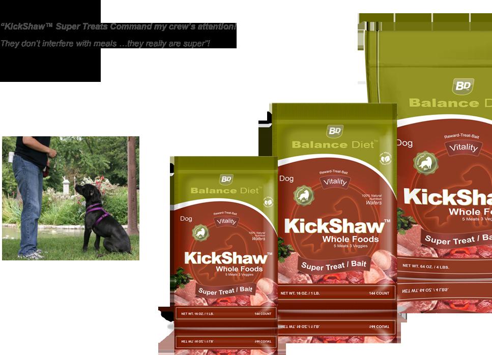Balance Diet Premium Dog food Kickshaw delicious whole food nutrition-worlds best dog treats