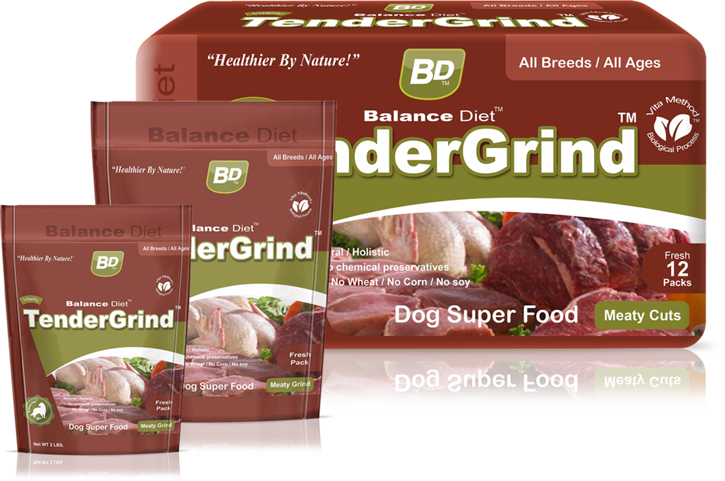 Balance Diet TenderGrind Dry Dog superfood meaty cuts