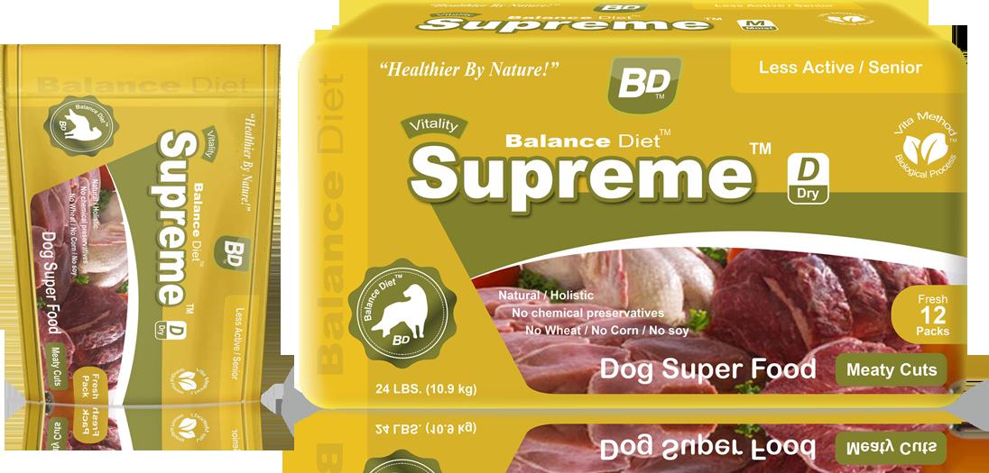 Balance Diet Supreme Dry Dog superfood meaty cuts