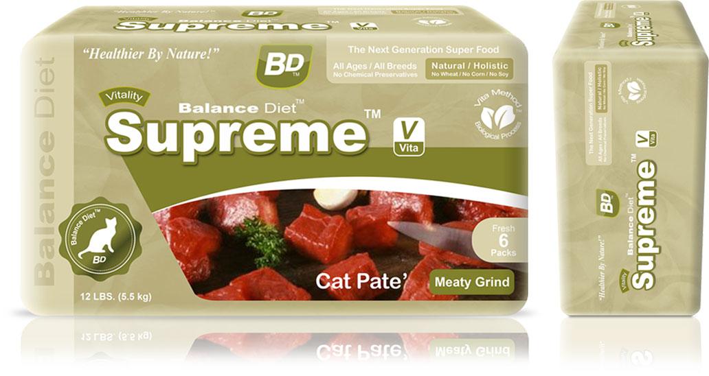 Meaty Grind Pate Cat Foodd Balance Diet