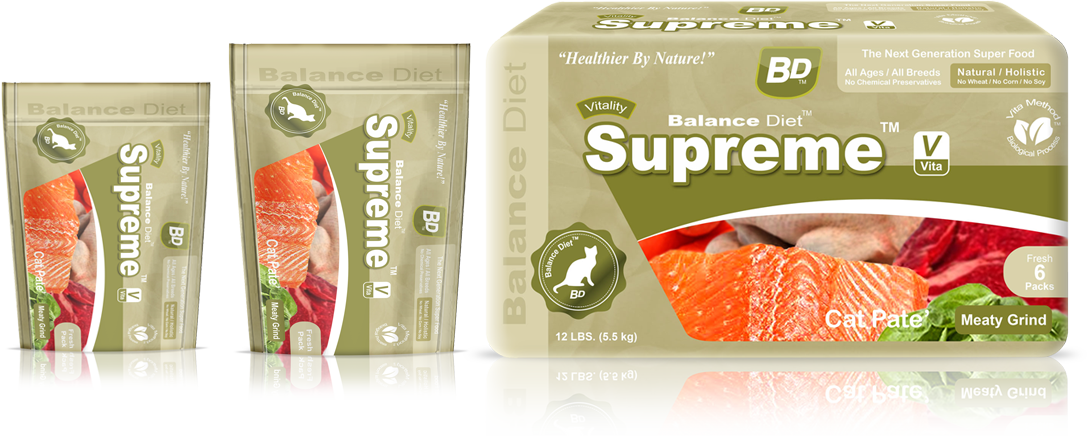 Balance Diet premium cat food Supreme cat pate meaty Grind most nutritious food best for healthier life