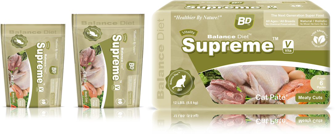 Balance Diet premium cat food Supreme Cat Pate meaty cuts complete nutrition for all life stages its tasty food for your cat no matter cat is old or youngcat pate meaty cuts