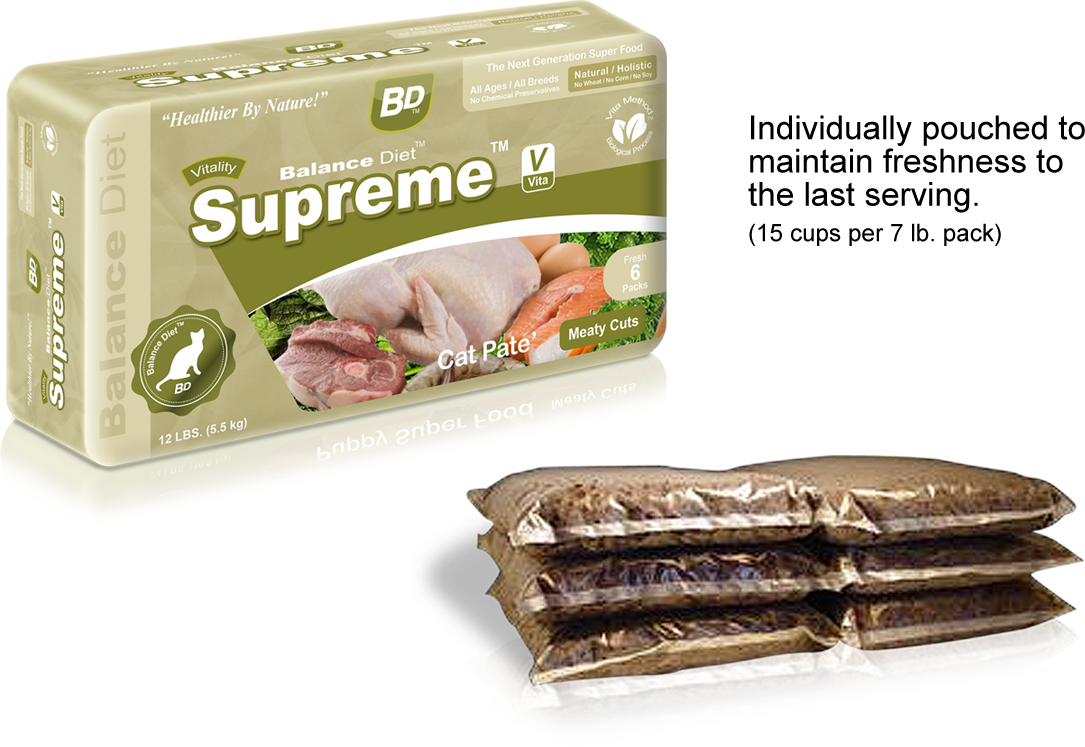 Balance Diet premium cat food Supreme Cat Pate meaty cuts complete nutrition for all life stages its tasty food for your cat no matter cat is old or young